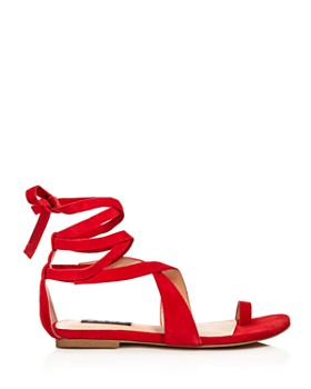 AQUA - Helen Owen x AQUA Women's Bay Suede Lace Up Sandals - 100% Exclusive