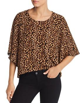 Kim & Cami - Ani Leopard Print Kimono Top