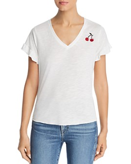 Billy T - Cherry Embroidered Tee