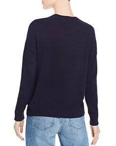 Minnie Rose - Intarsia-Heart Cashmere Sweater