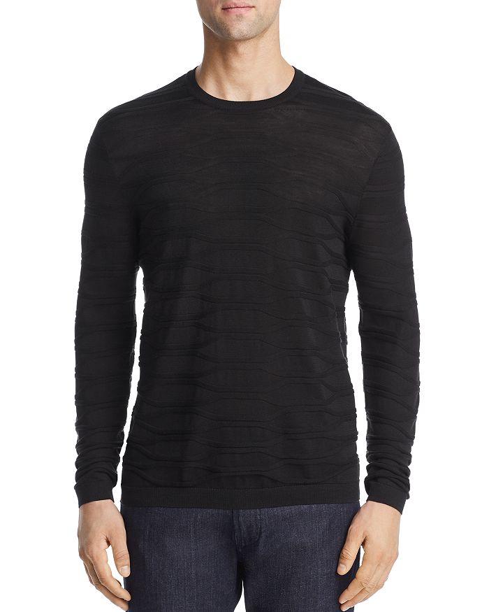 Armani - Textured Knit Silk & Cotton Slim Fit Sweater
