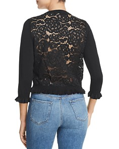 KARL LAGERFELD Paris - Lace Back Ruffle Cardigan