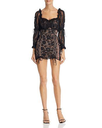 8129edfb0857 For Love & Lemons Monroe Lace Mini Dress   Bloomingdale's