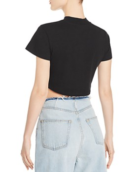 alexanderwang.t - Ruched-Front Cropped Tee