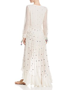 Rococo Sand - Embellished Plissé High/Low Dress