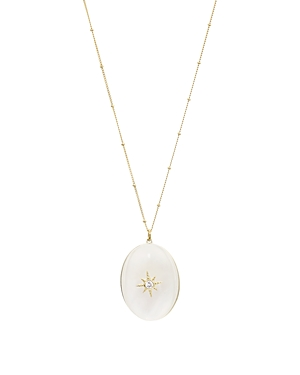 Argento Vivo Accessories CELESTIAL NORTH STAR PENDANT NECKLACE IN 18K GOLD-PLATED STERLING SILVER, 32