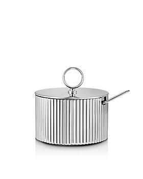 Georg Jensen - Bernadotte Sugar Bowl & Spoon Set