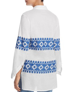 Tory Burch - Stephanie Embroidered Tunic Top
