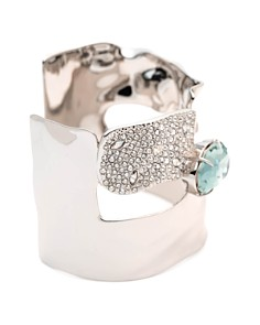 Alexis Bittar - Crystal Encrusted Crumpled Solitaire Cuff Bracelet