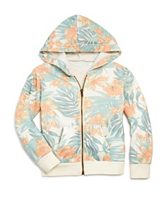 Vintage Havana - Girls' Hawaiian Print Zip Hoodie & Shorts - Big Kid