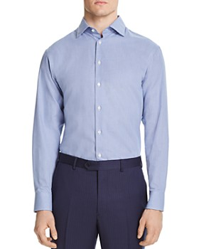 Armani - Micro-Zigzag Classic Fit Dress Shirt