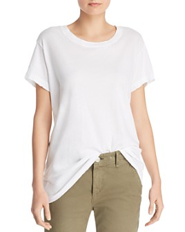 Current/Elliott - The Relaxed Distressed-Trim Tee