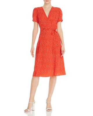Heart Print Wrap Dress   100 Percents Exclusive by Aqua