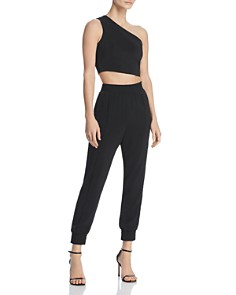 WAYF - One-Shoulder Cropped Top & Jogger Pants