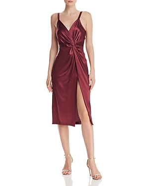 Jill Jill Stuart Dresses SATIN TWIST-FRONT DRESS