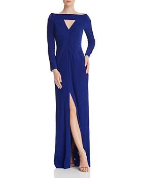 a005b0611a Tadashi Shoji - Pintucked Cutout Gown ...