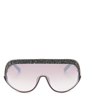 db4c4560ca44 Jimmy Choo - Women s Embellished Mirrored Shield Sunglasses