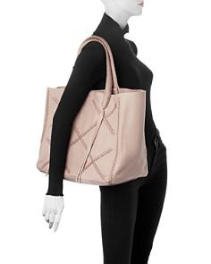 Callista - Iconic Cross-Stitch Leather Tote