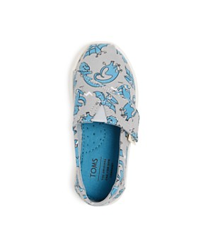 TOMS - Boys' Dino Glow-in-the-Dark Alpargata Slip-On Sneakers - Baby, Walker, Toddler