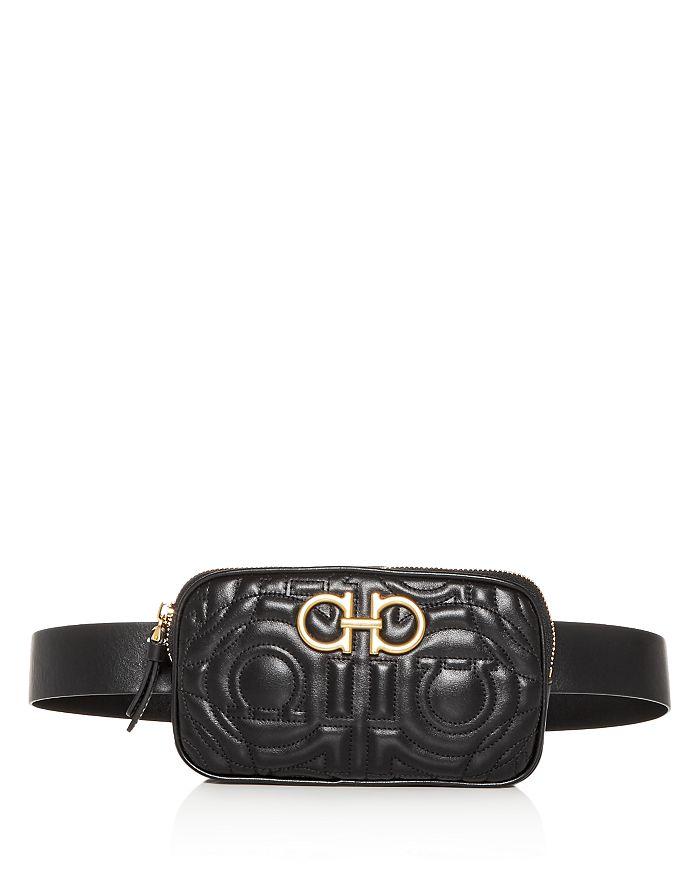 Salvatore Ferragamo - Gancini Quilted Leather Belt Bag