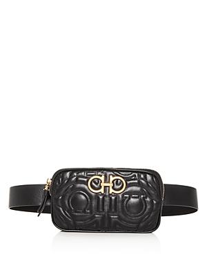 Salvatore Ferragamo Gancini Quilted Leather Belt Bag
