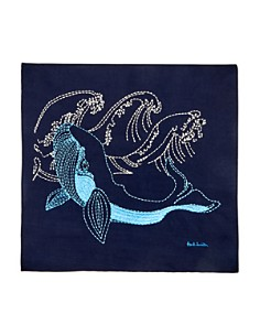 Paul Smith - Arctic Embroidered Pocket Square