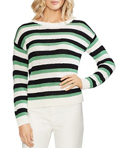 VINCE CAMUTO - Striped Drop-Shoulder Sweater
