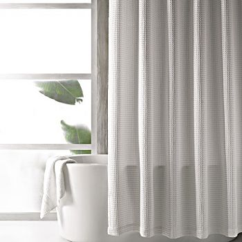 Hudson Park Collection - Waffle Weave Shower Curtains - 100% Exclusive