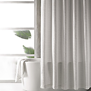 Hudson Park Waffle Weave Shower Curtain - 100% Exclusive