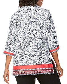 Foxcroft Plus - Angel Paisley Print Tunic Top