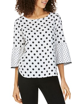 92bd72caf5e3d Foxcroft - Rory Wrinkle Free Dotted Blouse ...