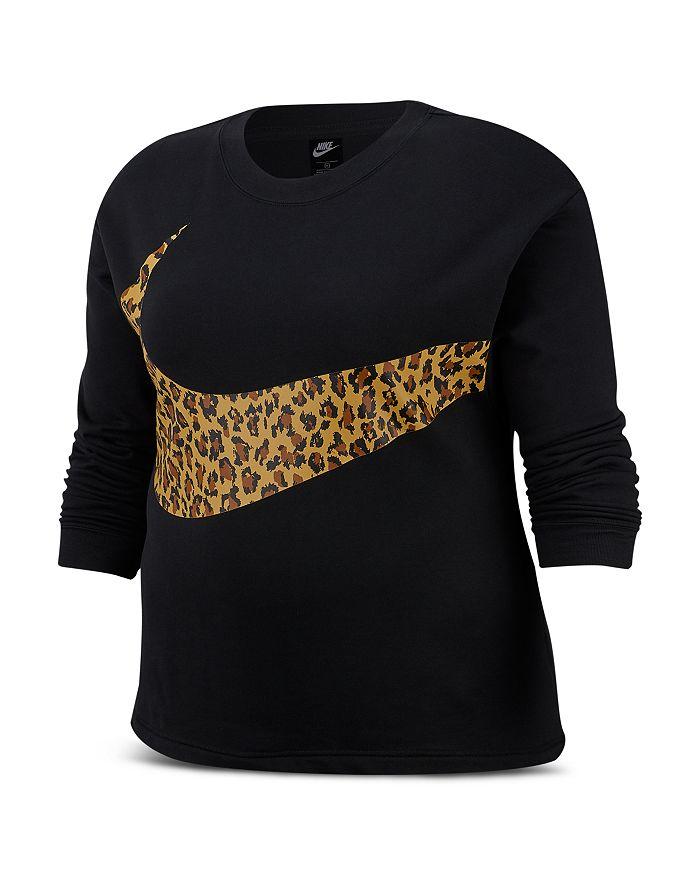 Nike Plus - Animal Print Logo Sweatshirt