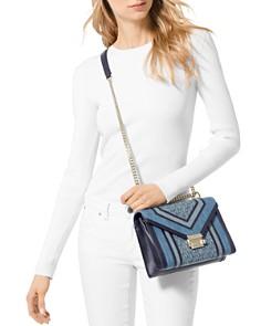 MICHAEL Michael Kors - Whitney Large Denim Convertible Shoulder Bag