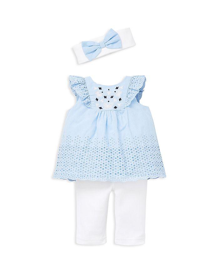 Little Me - Girls' Butterfly Eyelet Tunic, Leggings & Headband Set - Baby