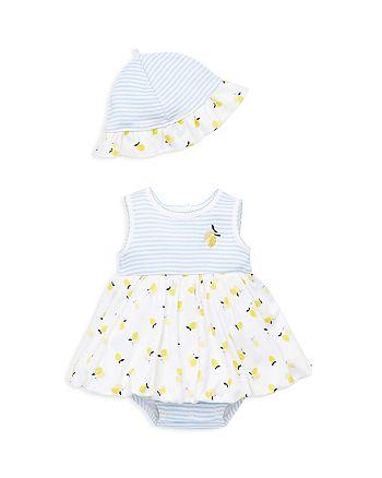 Little Me - Girls' Lemon Bodysuit-Dress & Sun Hat Set - Baby