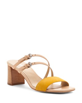 Botkier - Women's Dune Suede & Leather Block Heel Slide Sandals