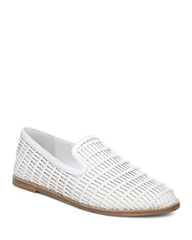 12d265b46574 Vince - Women s Jonah Woven Leather Loafers ...