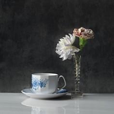 Royal Copenhagen - Blomst Lilac Cup & Saucer Set