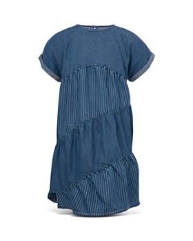c8d07aadb271c BCBGirls - Girls  Denim Asymmetric-Tier Dress - Little Kid ...