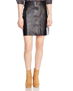 da3b09a0e Maje Jouki Leather Mini Skirt | Bloomingdale's