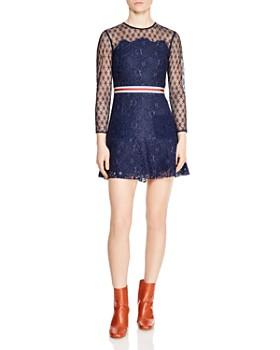 Sandro - Alicia Lace Mini Dress