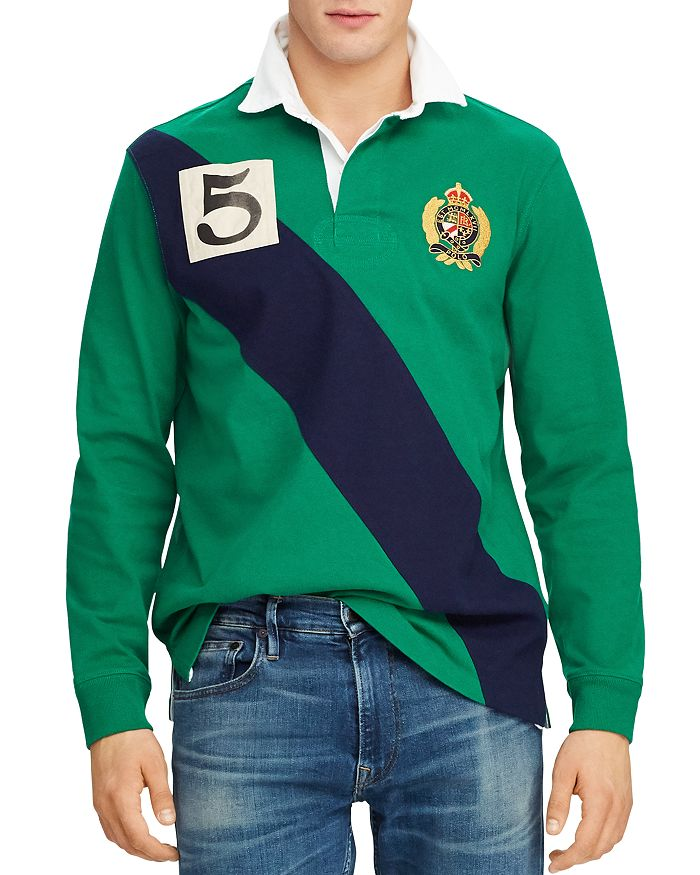 d2b9da575e Yale Long-Sleeve Classic Fit Knit Rugby Shirt - 100% Exclusive