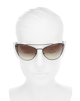 5fe5e0f2c19 ... 68mm Prada - Women s Brow Bar Cat Eye Sunglasses