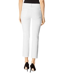 J Brand - Ruby High Rise Crop Stovepipe Jeans in Stargazer White