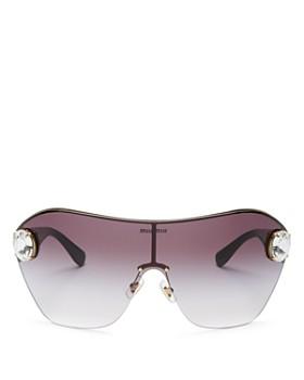 4d594752d00e Miu Miu - Women s Mirrored Shield Sunglasses