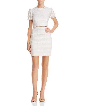 AQUA - Lace Puff-Sleeve Mini Dress - 100% Exclusive