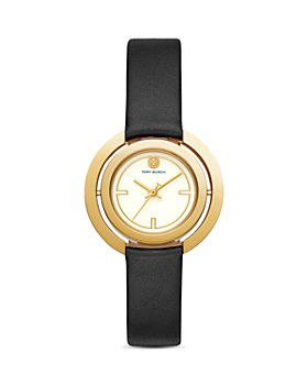 Tory Burch - The Grier Black Leather Strap Watch, 26mm