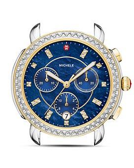 MICHELE - Sidney Two-Tone Diamond Watch Head, 38mm
