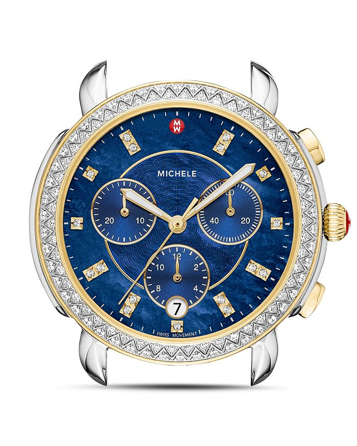 MICHELE - Sidney Two-Tone Diamond Watch Head, 38mm