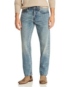 True Religion - Geno Slim Fit Jeans in Worn Transparency